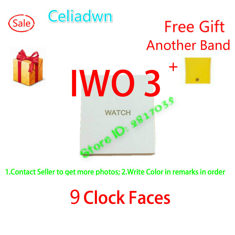 Smart Watch IWO 3 Upgrade Heart Rate Bluetooth Smartwatch 1:1 Watch Music Player With A Free Strap For iOS Android VS IWO 2 4 5 casual rwatch u11s smart bluetooth watch smartwatch with led display music player u11s health wrist bracelet heart rate monitor