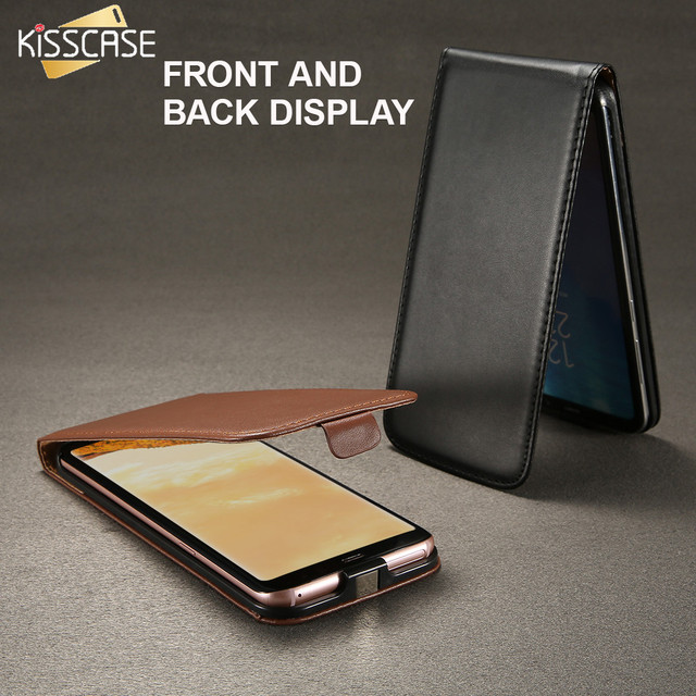 KISSCASE Vertical Magnetic Chip Flip Leather Cover For Samsung Galaxy S8 S7 S6 S5 S4 S3 Mini Classic Vintage Mobile Phone Cases