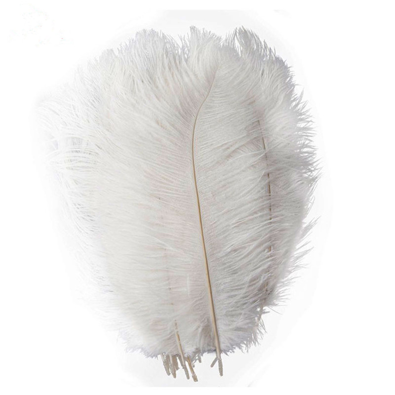 New wholesale 100pcs 12-14inches//30-35cm white ostrich feathers decor wedding