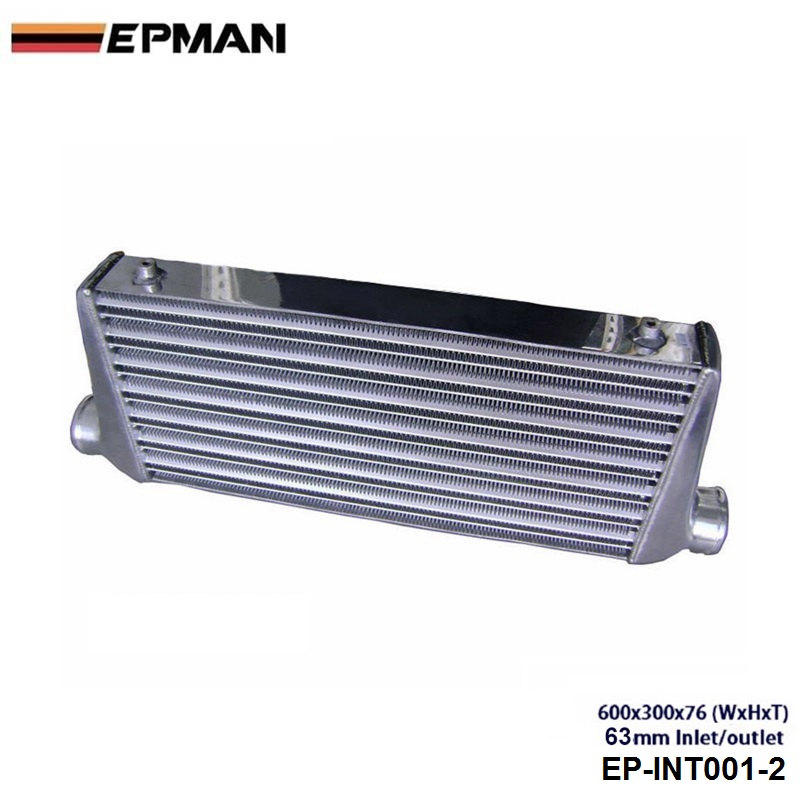 Intercooler (600*300*76 mm) OD:63MM EP-INT001-2 epman intercooler for toyota starlet ep82 91 ic 600 263 70mm od 63mm ep int0015