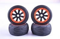 New fabric tires On road tires for HPI KM ROVAN BAJA 5B LOSI DBXL