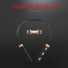 Neckband Fones de Ouvido Bluetooth Neckband Fone de Ouvido Intra-auricular Magnético Sweatproof Execução Fones de Ouvido Sem Fio para telefone
