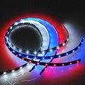 Отличное качество водонепроницаемый 60 см 30 СМД из светодиодов авто гибкие полоска света лампы DC12V красный синий белый