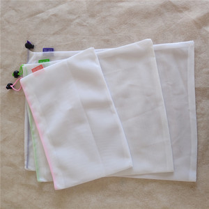 Image 4 - 1PC Eco Friendly Reusable Mesh Produce Bags Transparent Washable Grocery Mesh Bags for Storage Fruit Vegetable Toys Sundries