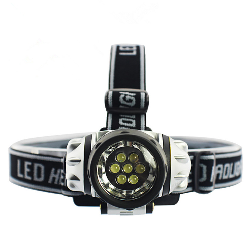 2 Modes 7LEDs 14 LEDs Headlamp Long Lifetime Headlight For Hiking Camping Night Fishing Waterproof Flashlight No AAA Batteries