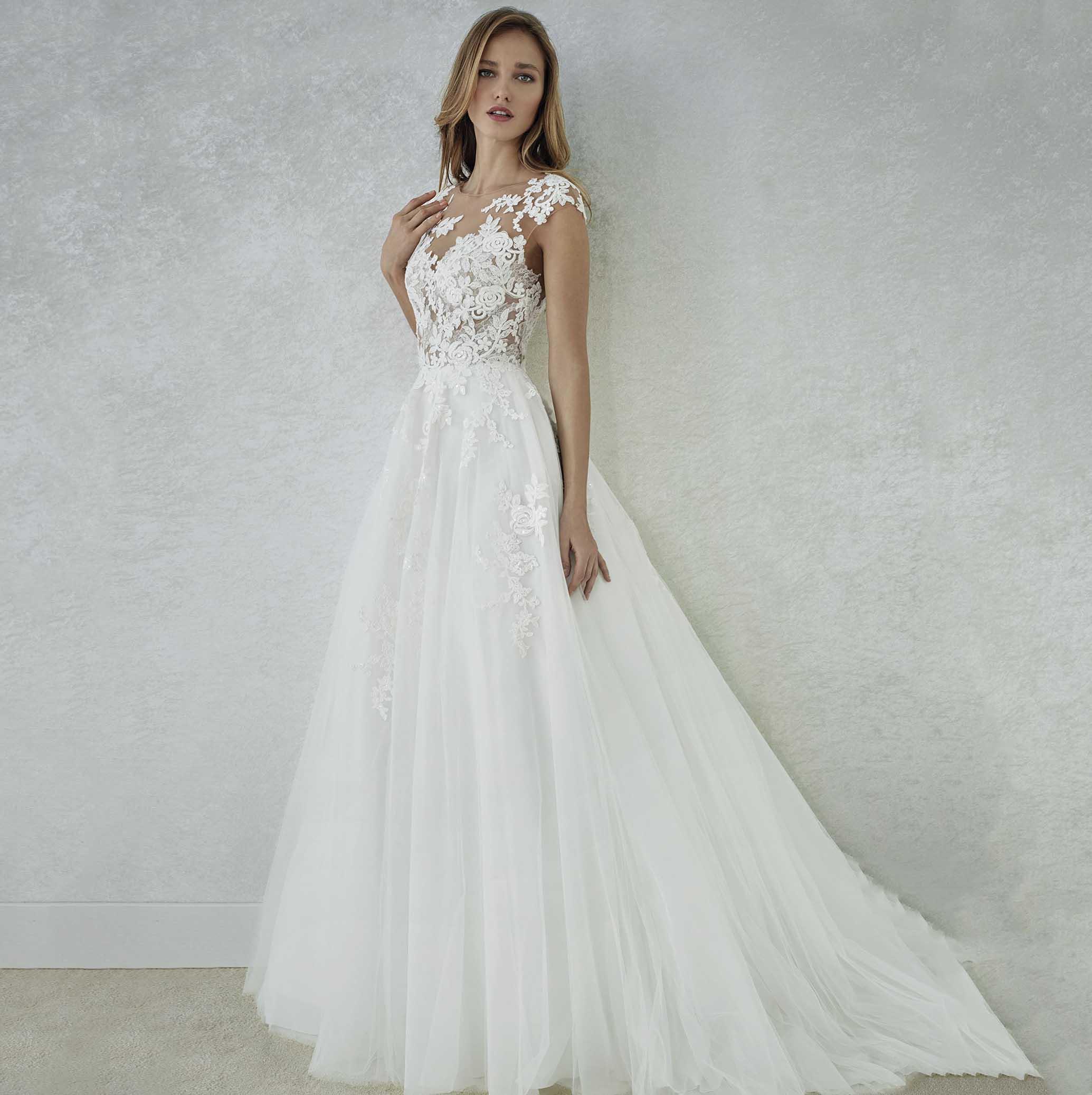 Cap manches bohème robes De mariée 2019 grande taille a-ligne dentelle Tulle plage robe De mariée Vestido De Noiva sur mesure
