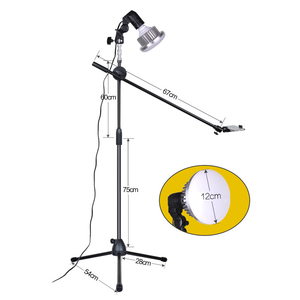 Image 4 - Phone Photography Shooting LED Lamp Fill Light+Bracket Stand+Boom Arm+Reflector Softbox Continuous Lighting Kits For Photo Video