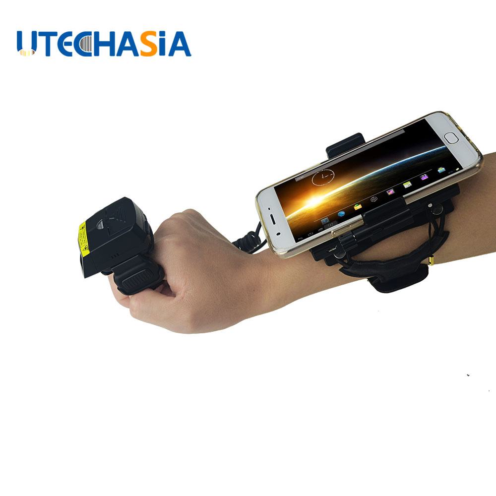 цена на NEW Bluetooth Barcode Scanner Wired 2D Finger Laser & Wearable Data Terminal WT02+FS02 for IOS Android Windows Phones