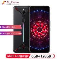 Оригинальный смартфон с глобальной прошивкой zte nubia Red Magic 3 6,65 Snapdragon 855 Octa core 6 ГБ 128 ГБ 5000 мАч фронтальный 48MP задний 16 МП игровой смартфон