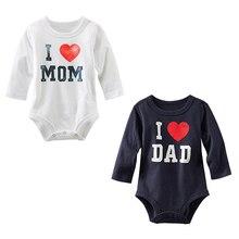I Love MOM/DAD Printed Infant Toddler Baby Girl Boy Romper Jumpsuit