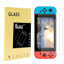 2pcs Tempered Glass Movie Display Protector for Nintend Change Glass Protecting Movie for Nintend Extremely Slim Clear Retail Bundle