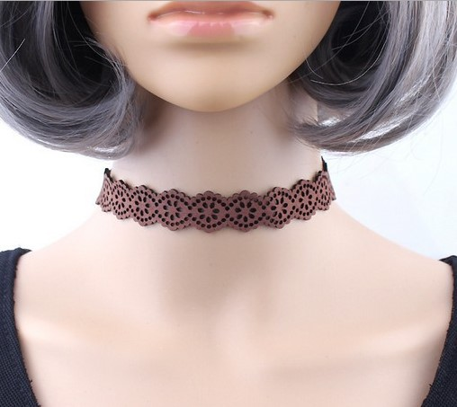 fa7af5faace Black Lace up Choker Necklace Women Gothic Chokers Neck Boho Jewelry  Harajuku Big Chunky Necklace Collier