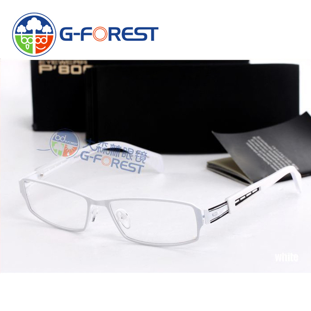 brand eyewear luxury optical frame spectacles men white color ...