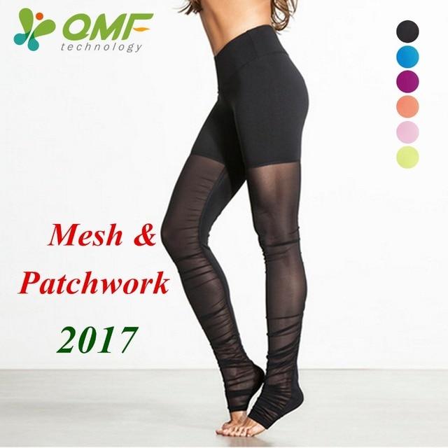 Femmes Mesh Leggings Noir Patchwork Collants Running Bleu Fitness Skinny  Pantalon Vert Transparent Sport Pantalon Push 3a2b98efc69