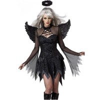 2017 Adult Fallen Angel Costume Black Angel Party Dress Sexy Products Adult Halloween Costumes For Women