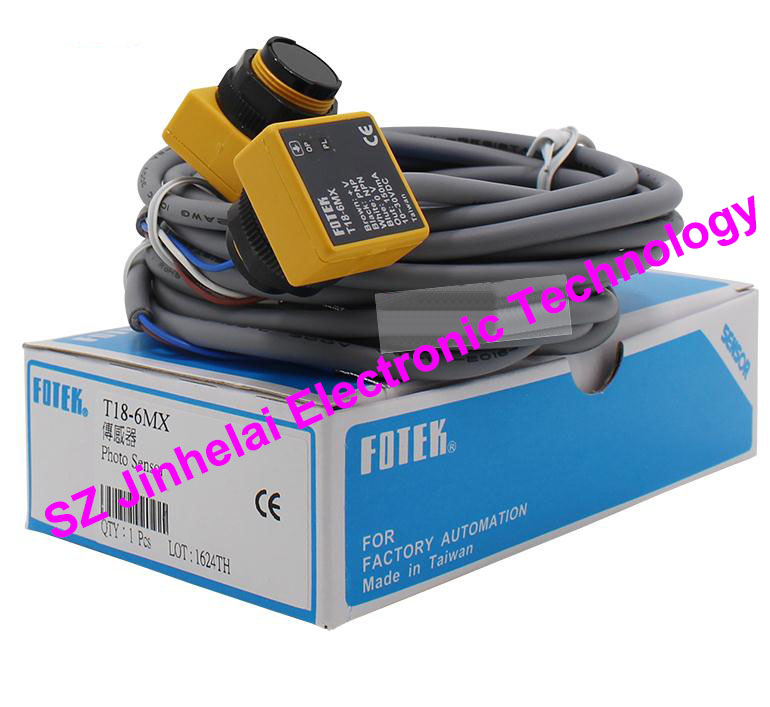 100% New and original FOTEK Photoelectric switch  T18-6MX 100% new and original fotek photoelectric switch mr 10x npn