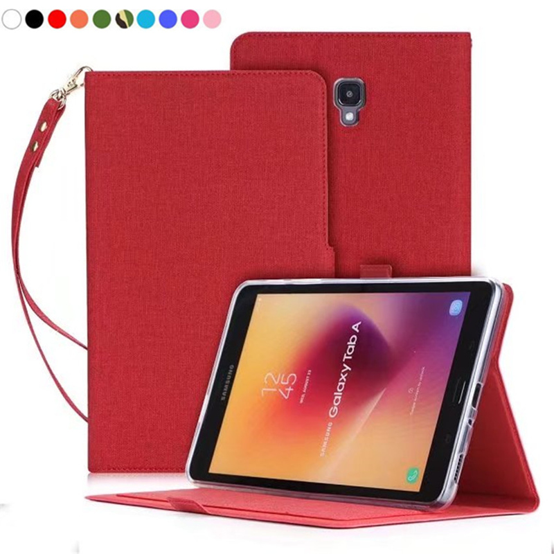For Samsung Galaxy Tab A 8.0 2017 T380 T385 SM-T380 SM-T385 Tablet hand wrist Case PU Leather Stand Flip Cover Protector Fundas flip left and right stand pu leather case cover for blu vivo air