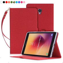 For Samsung Galaxy Tab A 8.0 2017 T380 T385 SM-T380 SM-T385 Tablet hand wrist Case PU Leather Stand Flip Cover Protector Fundas