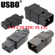 Supply Black IEC320-C19/C20 assembled plug PDU chassis dedicated male female wiring 16A free welding socket convertor