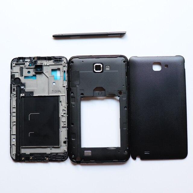 Habitação completo para Samsung Galaxy NOTA 1 N7000 I9220 Toque Stylus Pen S + Quadro Frente + Quadro Médio + Tampa de bateria door Repair Parts