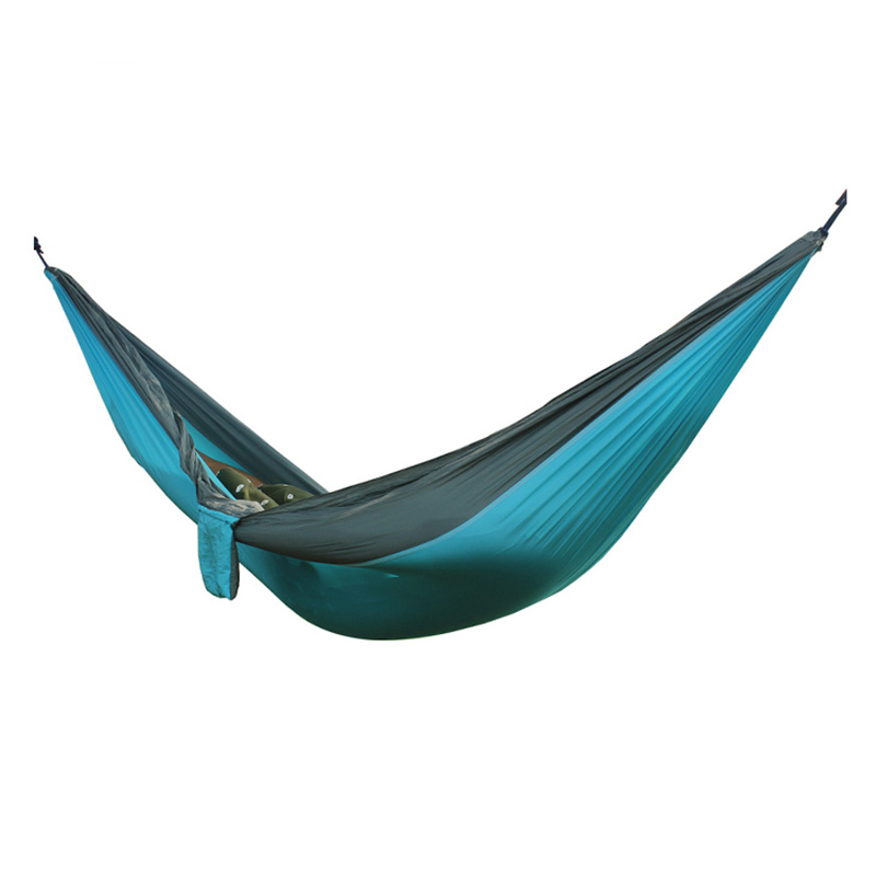 2 People Portable Parachute Hammock for outdoor CampingSky blue with gray side 270*140 cm2 People Portable Parachute Hammock for outdoor CampingSky blue with gray side 270*140 cm