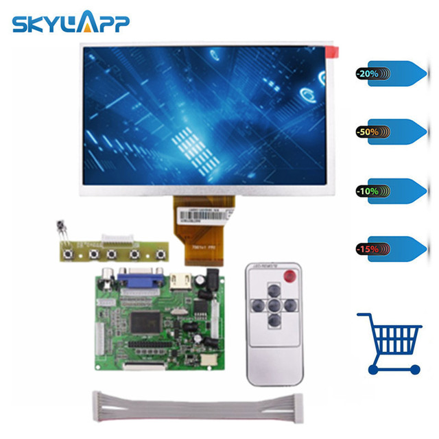 Skylarpu 7''inch Raspberry Pi LCD Screen TFT Monitor for AT070TN90 with HDMI VGA Input Driver Board Controller (without touch)