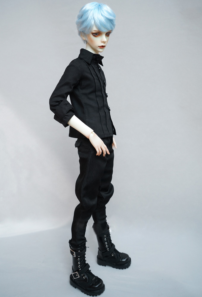 BJD doll clothes and trousers are suitable for 1/3 1/4 Uncle SD MSD men's black harlan fashionable pants and doll accessories