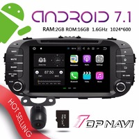 TOPNAVI 8 Android 7 1 Auto Media Players For KIA 2014 Soul Car MP3 MP4 Plug