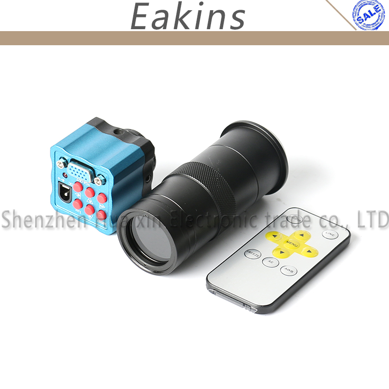 2.0MP CMOS HD Digital IR Remote Control 100X Zoom C-mount Microscope Camera Magnifier VGA Output for PCB Lab Industry Industrial2.0MP CMOS HD Digital IR Remote Control 100X Zoom C-mount Microscope Camera Magnifier VGA Output for PCB Lab Industry Industrial