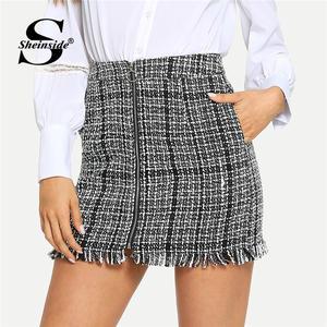 08db4c3696 Sheinside Mini Skirt High Waist For Women Short Skirt