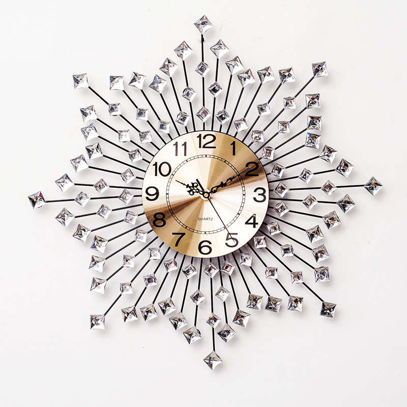 Nordic Beautiful Creative Acrylic Crystal Wall Clock Wall Modern Minimalist Home Mute Clock Fashion Decorative Quartz Clock
