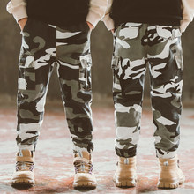 2019 Spring Autumn Children Pants For Boys Camouflage Cargo Kids Cotton Casual Sports Trousers Child Trausers