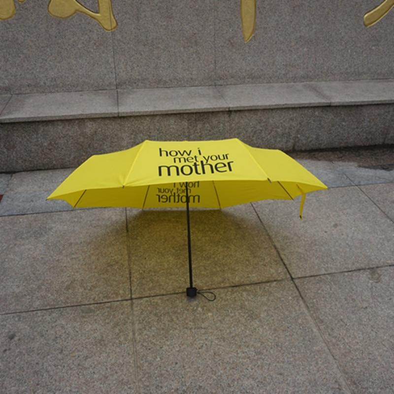 Fashion Yellow How I Met Your Mother Umbrella Beautiful Womens Folding Umbrellas Rain Women Parapluie Parasol Female Rain Gear