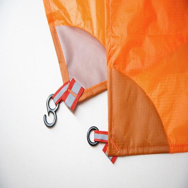 3F UL GEAR Ultralight 15D Poncho Raincoat Outdoor Mini Tarp  3