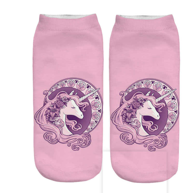 Новые милые носки с единорогами женские забавные носки с 3D принтом для беременных Sokken зима осень весна