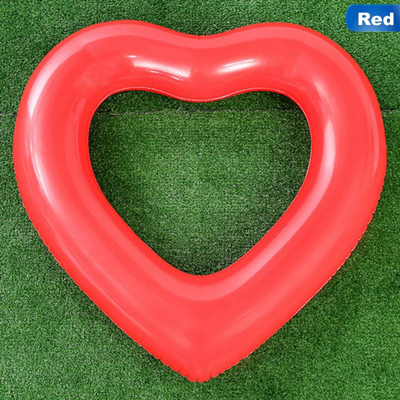 Sweet Heart Shape Love Water Giant Sexy Inflatable Fun Toys Piscina Hot 2 Color Pool Float For Women Swimming Ring