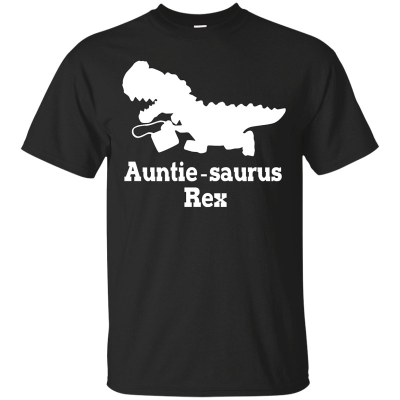 T Shirt Printing Auntie Saurus Rex Dinosaur O-Neck Men Short Funny T Shirt
