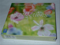 2017 Hot Sale Wn-018; Brand New Non-split 2 Cd Thick Box Set: Romantic Classical Piano France: Reflections Suit; Free Shipping,