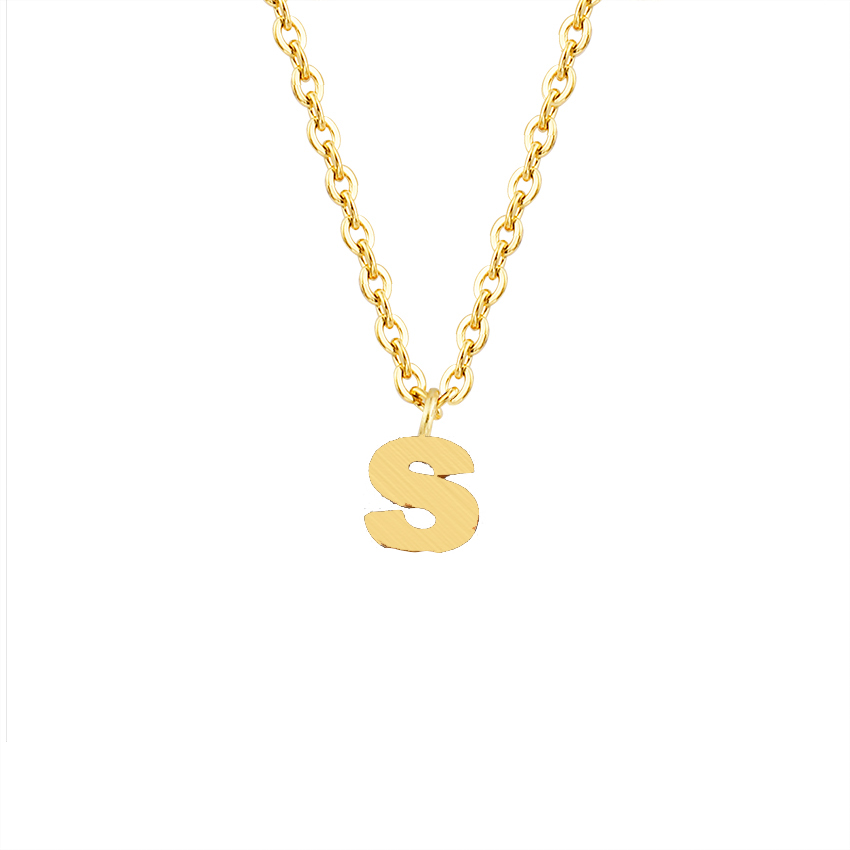 Icftzwe Charm Jewelry 26 Initial Gold Chains For Men