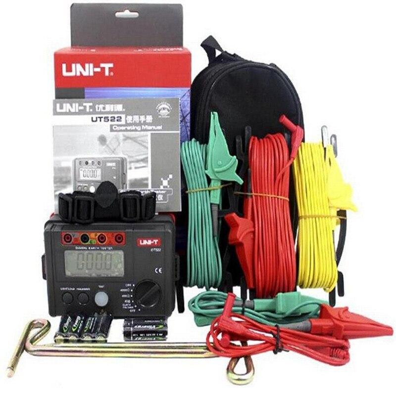 UNI-T UT522 Digital Terra Resistência Tester Lightning Rod Detector Relâmpago Baixo tester