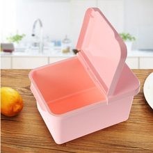 1pcs Multi-Functional food-grade plastic lid oval sharp sealed canister snack  grains storage box kitchen storage tank CF
