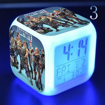 Подгонянный СВЕТОДИОДНЫЙ Красочный будильник сенсорный свет украшение стола Аниме Фигурки игрушки для детей