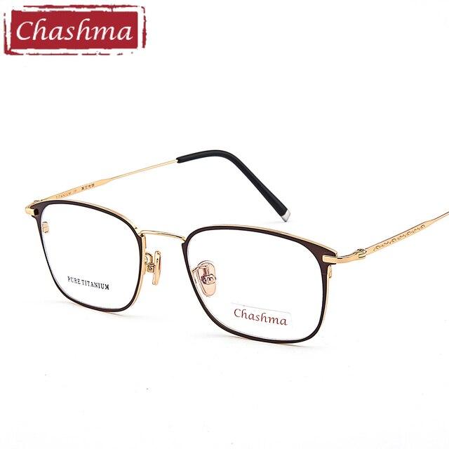 5b6afca5ec Chashma Brand Top Quality Glasses Frame Titanium Women Eyeglasses Male  Prescription Spectacles Clear Color Lenses