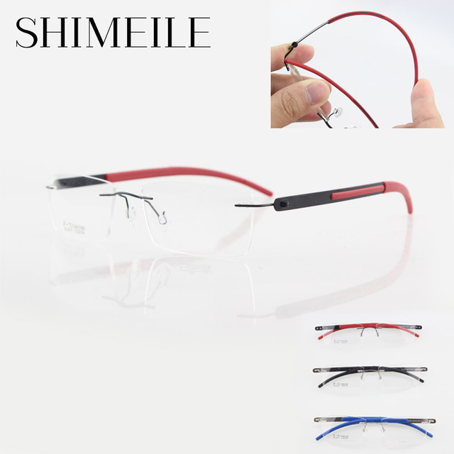 titanium glasses frame men ultra-light rimless eyeglasses frame high quality myopia optical eyeglasses E1057