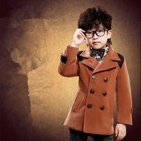 YNB 2017 Spring Autumn Winter Children S Patchwork Coat Black Brown High Quality Kids Jackets Windbreaker