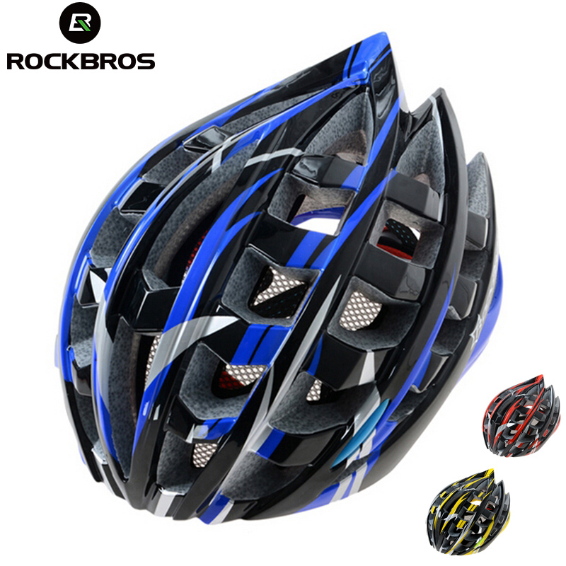 ROCKBROS Cycling Helmet Ultralight Safety Bike Head Protect Bike Helmets High Quality Bicycle Helmet Cycling Accessories K6102 universal bike bicycle motorcycle helmet mount accessories