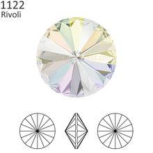 cfef027fc1c4 (1 pieza) de cristal de Swarovski 1122 Rivoli piedra redonda (sin agujeros)