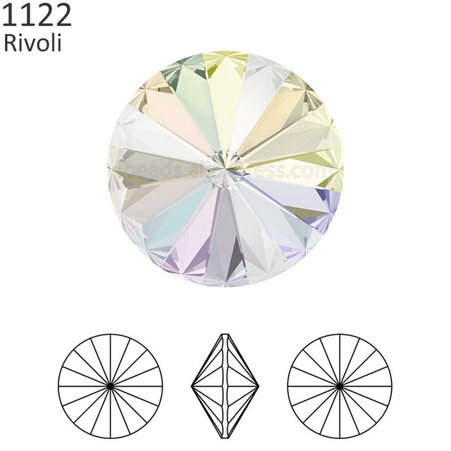 e58a7712f (1 piece) 100% Original crystal from Swarovski 1122 Rivoli round stone  Foiled made