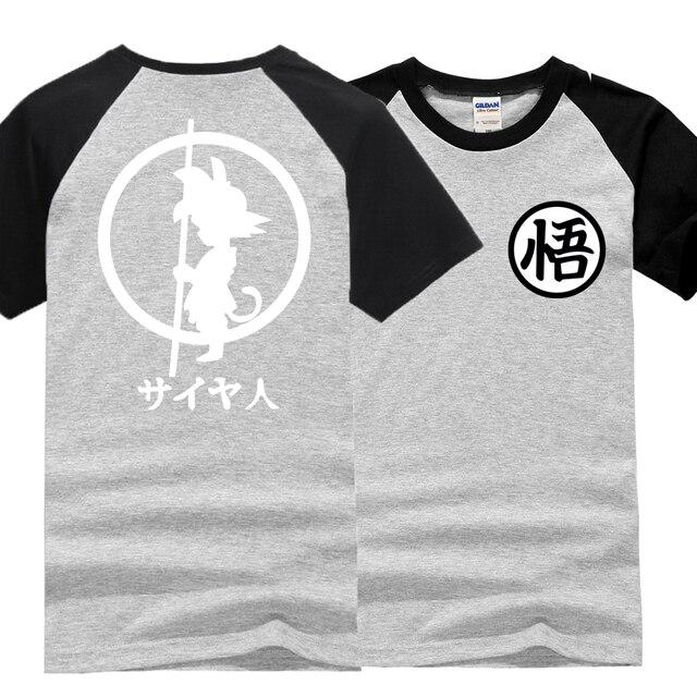 2017 new fashion t shirts men Dragon Ball Z brand clothing raglan sleeve Vegeta Goku cotton t shirt streetwear dragon ball tops