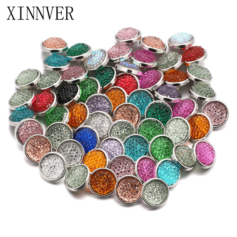 50pcs/lot Mix 5 Style 12mm Snap Button Jewelry Fit Snap Bracelet/Earrings Snaps Jewelry